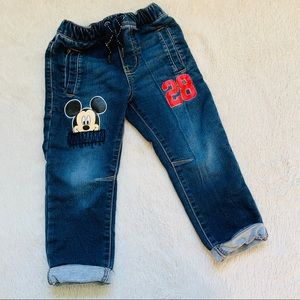 Mickey Mouse Drawstring Jogger Jeans 2T
